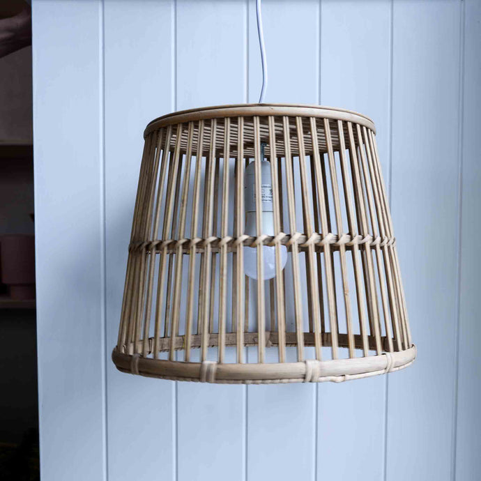 Hanging Bamboo Light Shade with Cord