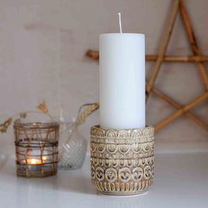 terracotta candle stand