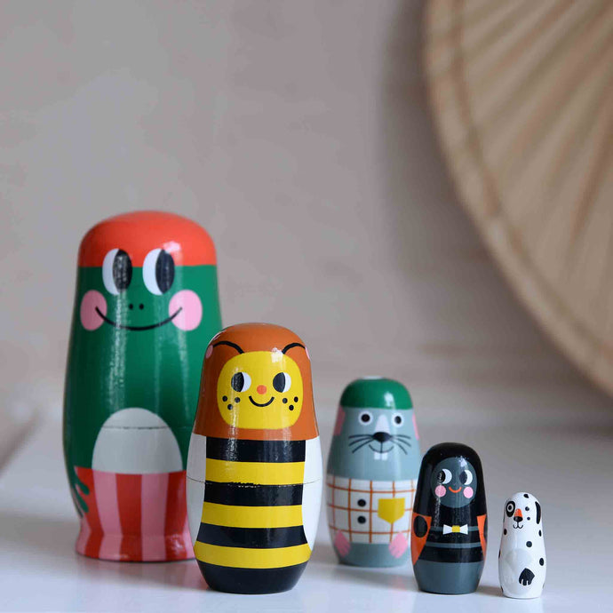 Paddy and Pals 5 Piece Nesting Dolls Set