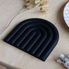 Load image into Gallery viewer, black rubber trivet
