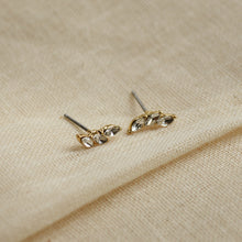Load image into Gallery viewer, Mathilde Gold Plated Crystal Earrings