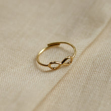 Load image into Gallery viewer, gold-plated-stacking-ring-infinity-symbol