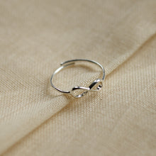 Load image into Gallery viewer, silver-plated-stacking-ring-infinity-symbol