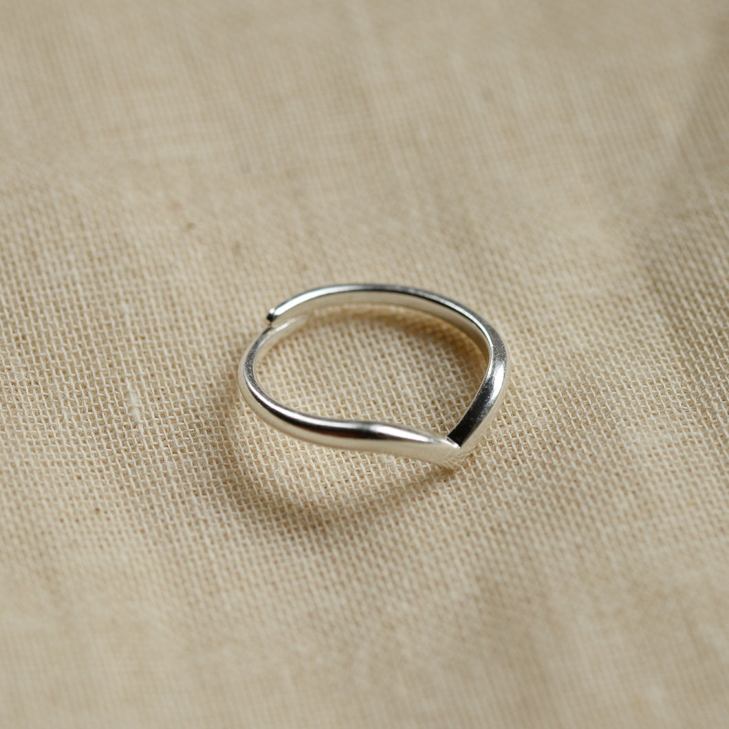 Lulu Wishbone Silver Plated Stacking Ring