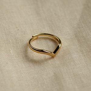 Lulu Wishbone Gold Plated Stacking Ring