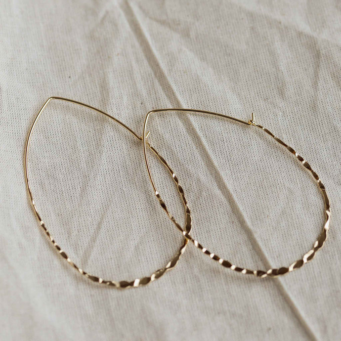fabia gold hoop earrings