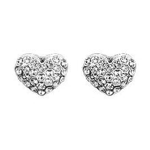 Load image into Gallery viewer, Pilgrim-Mathilda Diamante Heart Stud Earrings
