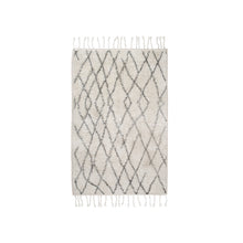 Load image into Gallery viewer, Black and White Zig Zag Cotton Bath Mat