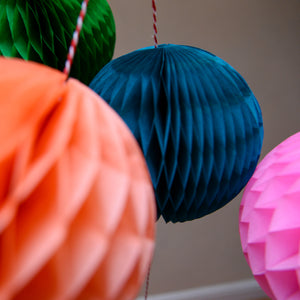 Multicoloured Paper Ball Garland