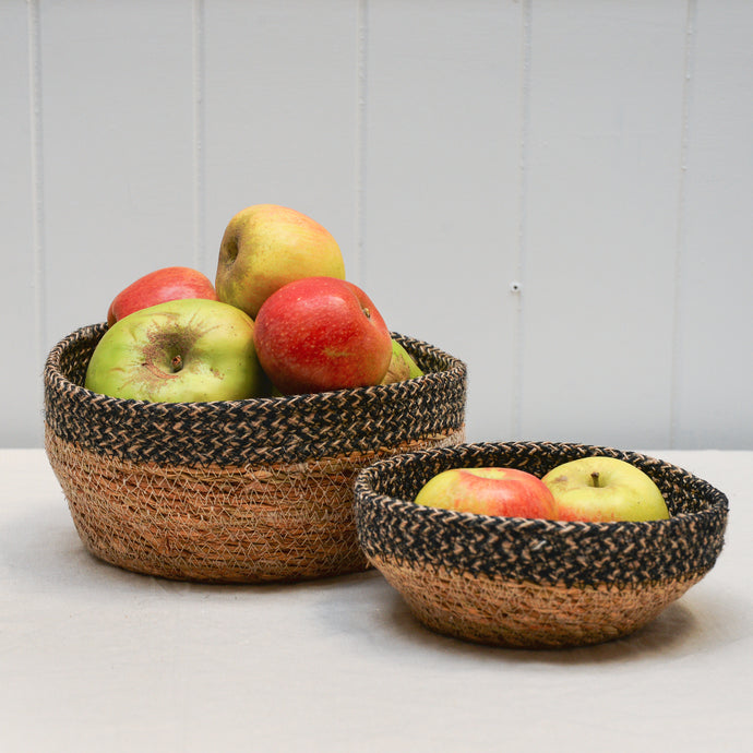 Seagrass Jute Bowl Basket Set
