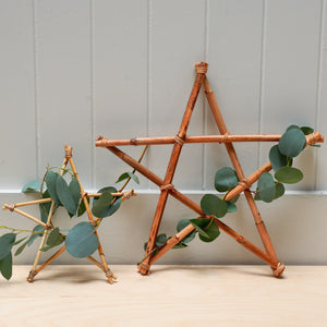 House Doctor Natural Star Ornament in Small or Large