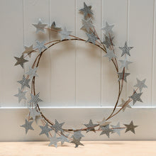 Load image into Gallery viewer, house-doctor-silver-star-wreath-christmas-decoration-scandinavian-christmas