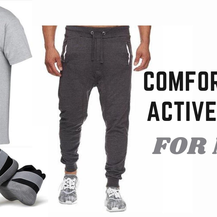 active wear for men- running pants-running shoes