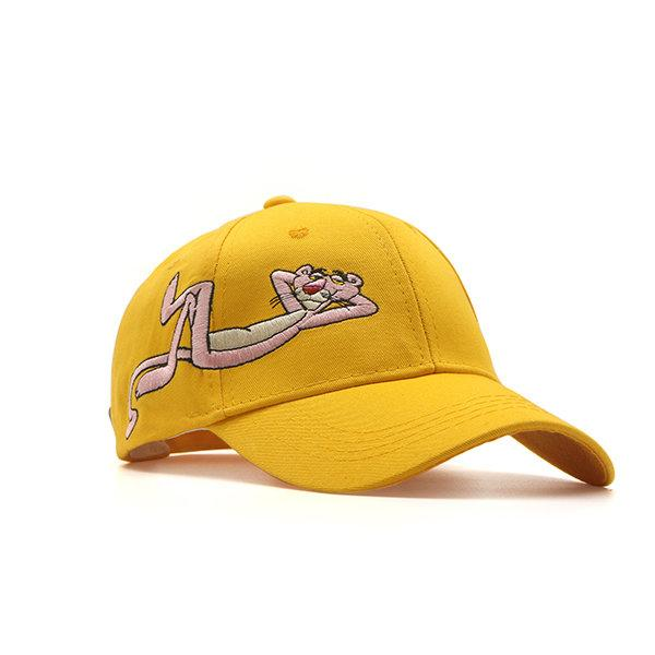 Women Cartoon Embroidery Baseball Cap Outdoor Leisure Sports Breathable Cotton Hat
