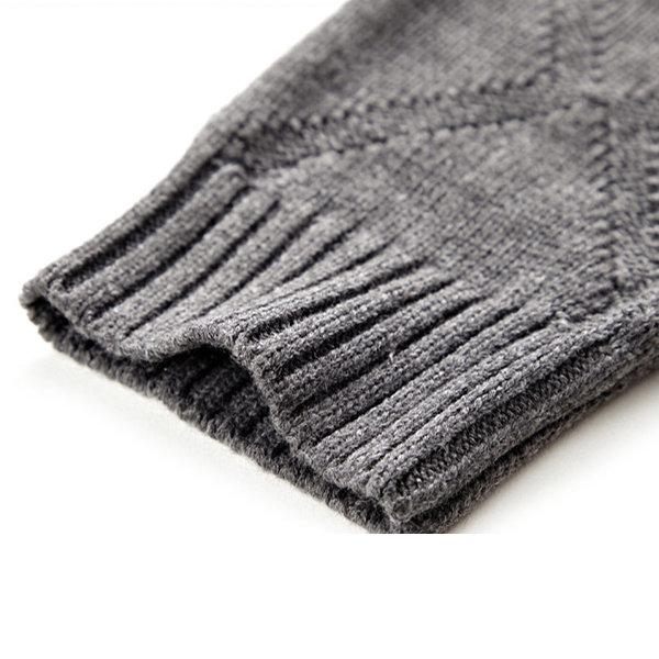 Mens Wool Solid Color Knitted Sweater