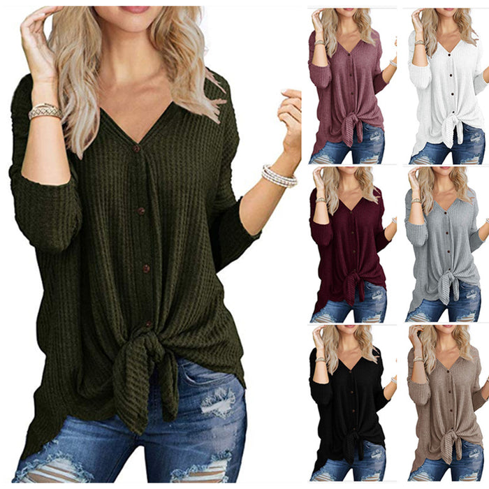 Long sleeve irregular cardigan T-shirt