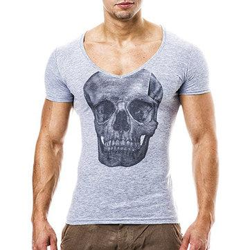 Breathable Skeleton Printed Casual T Shirt