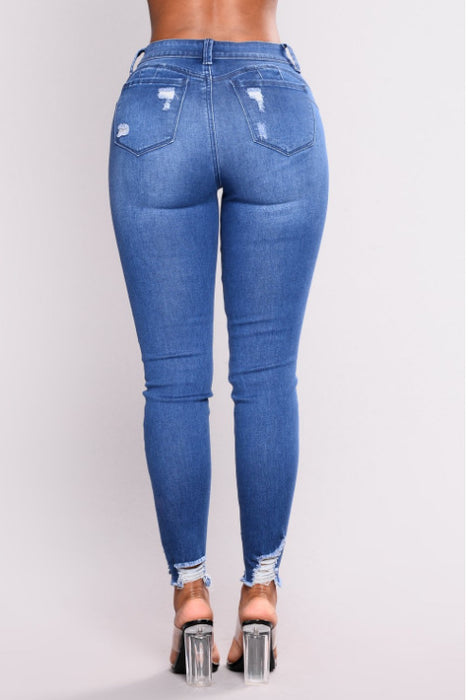 High Waist Stretch Slim Pencil Pants