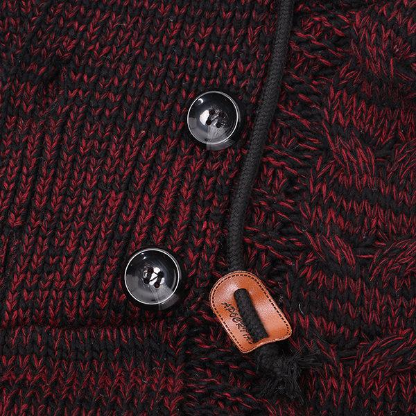 Winter Thick Knitted Casual Hooded Sweater
