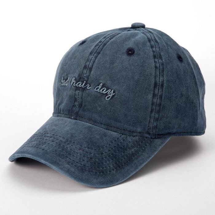 Women Mens Washed Bad Hair Day Embroidery Letters Baseball Hat Casual Retro  Visor Cool Hat d2038610a4