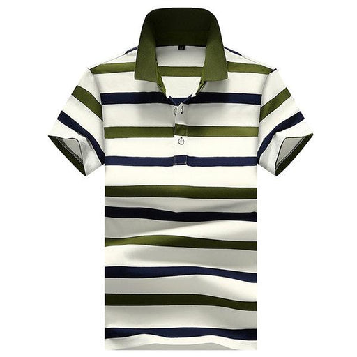 Turn-down Collar Business Casual Striped Golf Shirts