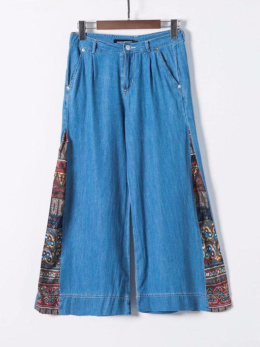 Wide Leg Cropped Denim