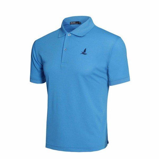 Turn-down Collar Comfy Solid Color Golf Shirts