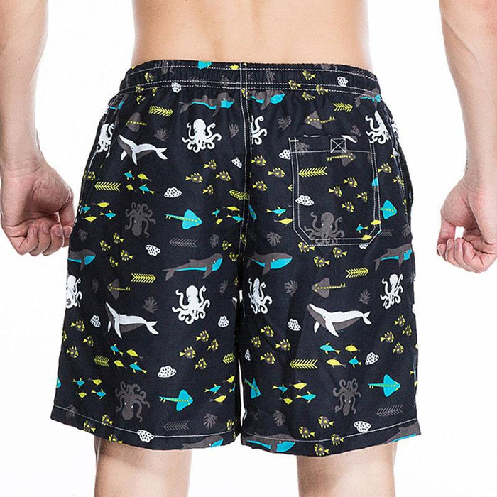 Undersea Animal Printing Beach Shorts