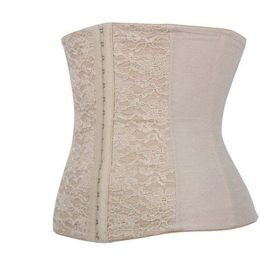 Women Sexy Embroidered Elastic Breathable Corset Steel Boned Waist Training Underbust Bustiers