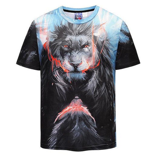 Unique 3D Lion Printed Casual T-shirt