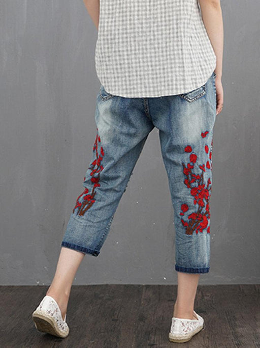Vintage Embroidery Jeans
