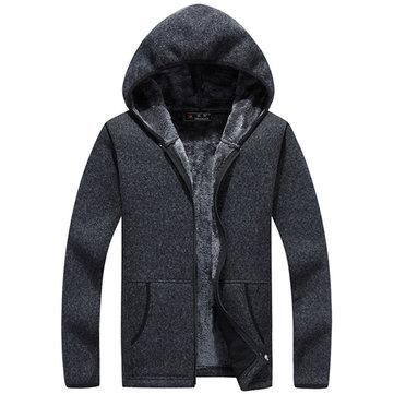 Thicken Zip Up Hooded Sweater Coat