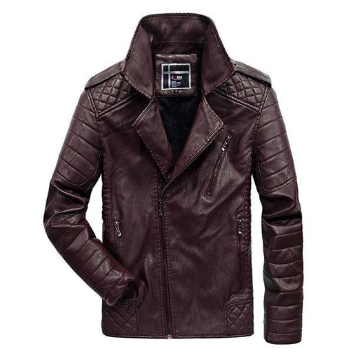 Winter Epaulets Faux Leather Jacket