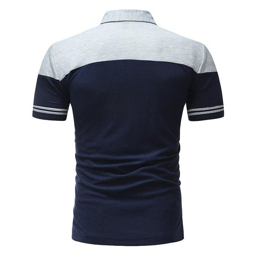 Stitching Color Slim Fit Golf Shirt