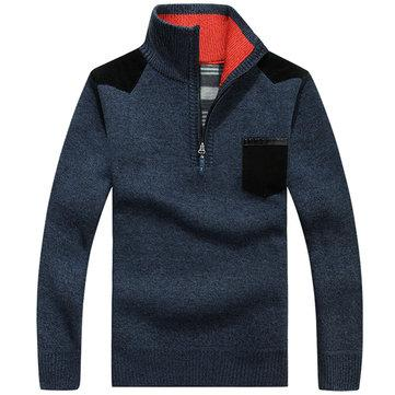 Winter Warm Thicken Fleece Lining Casual Sweater for Men