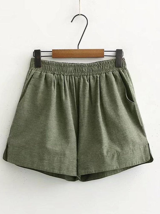 Vintage Solid Color Shorts