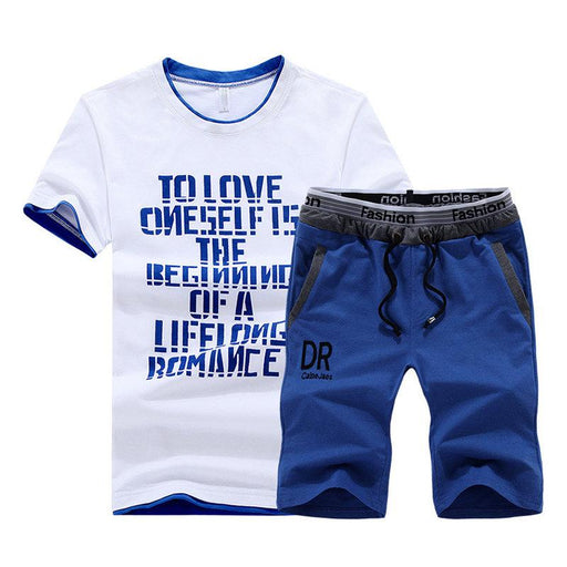 Summer Letters Printed Thin Casual Sport Sets