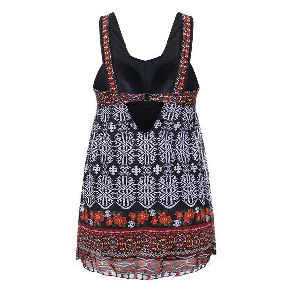 Vintage Printed Swimsuit Quick-drying Swimdr
