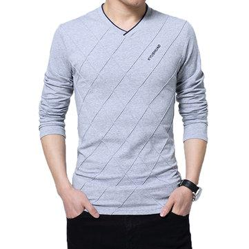 Stylish Lines Design Cotton T-Shirt