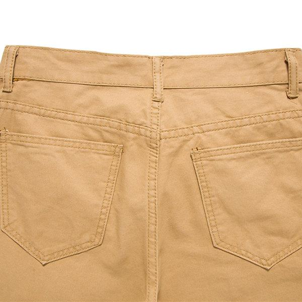 Summer Cotton Knee Length Casual Shorts