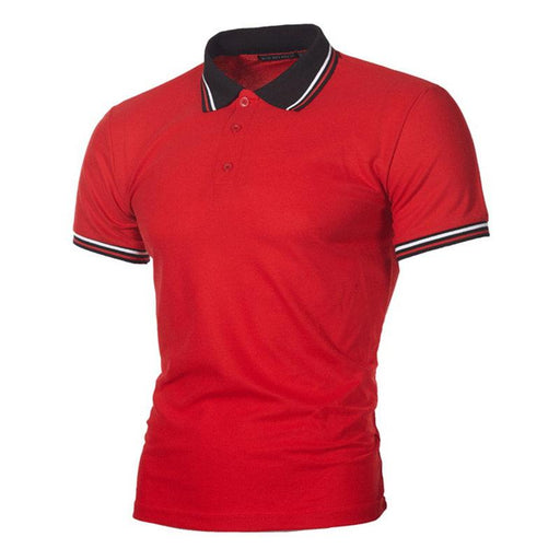 Summer Stripped Short Sleeve Golf Shirts