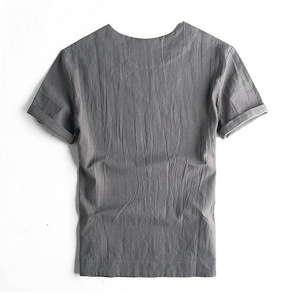 Thin Comfy Cotton Linen T Shirt