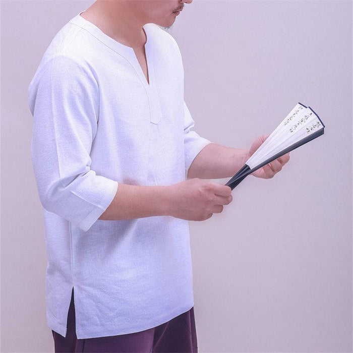 V-neck Half Sleeve Loose Casual T Shirts