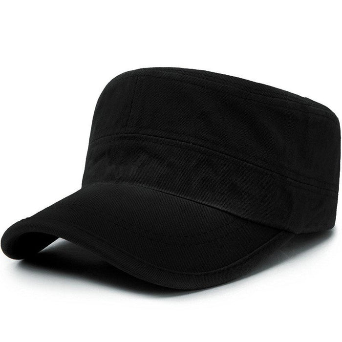 Washed Solid Cotton Flat Cap