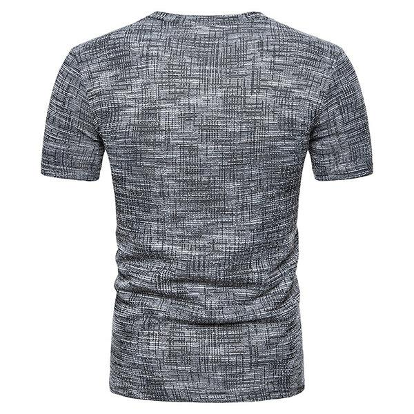 V-neck Slim Fit Basic Casual T Shirt