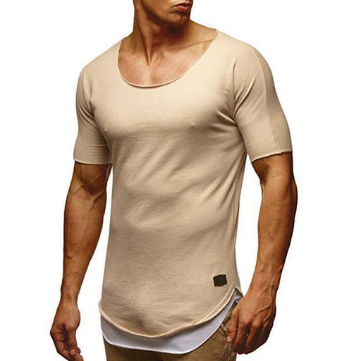 100%Cotton Breathable Slim Casual T Shirts - RealBigBuy