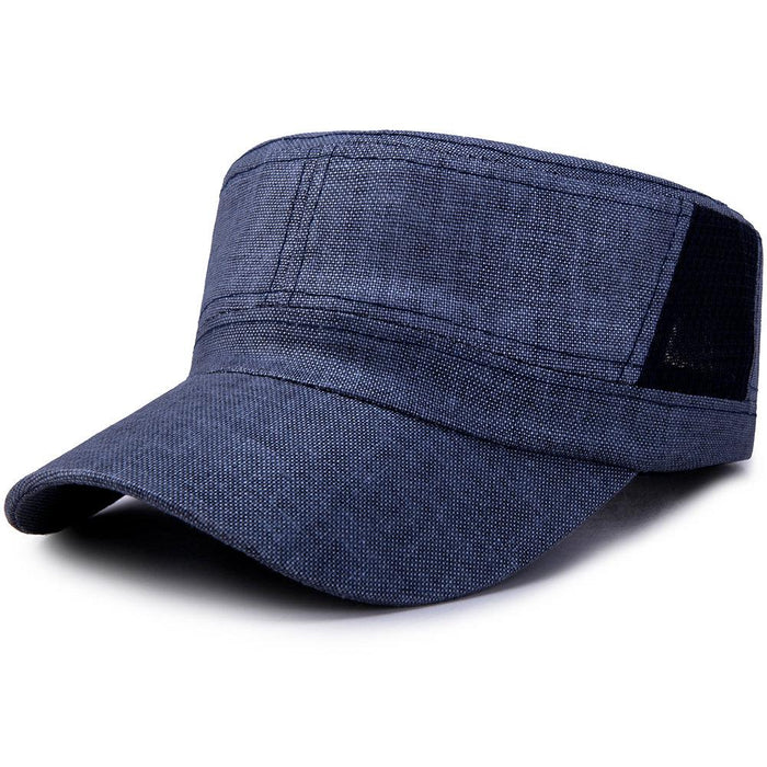 Wide Brim Cotton Flat Cap