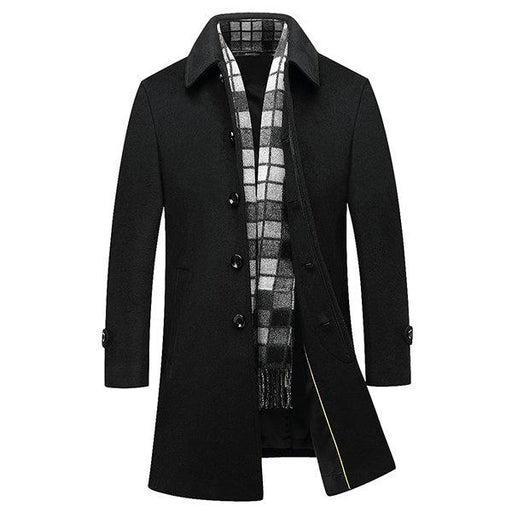 Winter Mesn Woolen Trench Coats