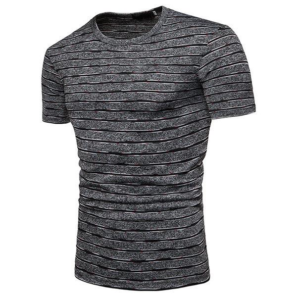 Summer Stripe Casual Cotton T Shirts