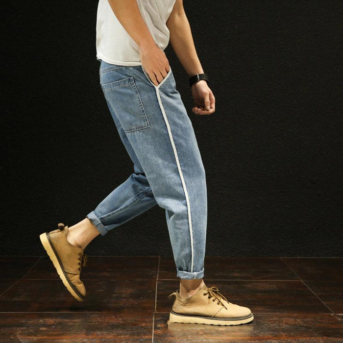 Stylish Loose Washed Harem Cropped Pants